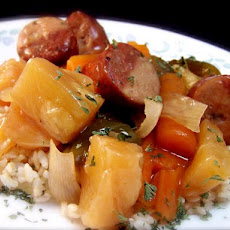 Sweet 'n' Sour Sausage-Crock Pot