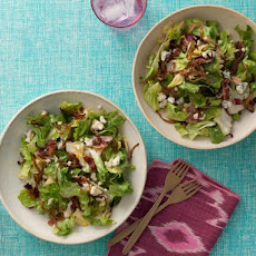 Escarole Salad with Bacon, Caramelized Onions and Blue Cheese Vinaigrette