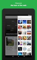 Screenshot of Feedly. Your work newsfeed.