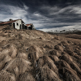 Broken by Bragi Ingibergsson - Buildings & Architecture Decaying & Abandoned ( farm, old, iceland, barn, brin, grass, bragi j. ingibergsson, house, landscape, rural, abandoned )