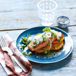 Pan-Roasted Salmon with Fresh Onion and Fennel Salad