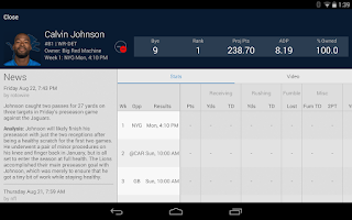 Screenshot of NFL Fantasy Football