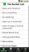 Screenshot of The Bucket List