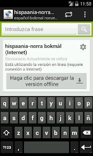 Spanish-Norwegian Dictionary - screenshot