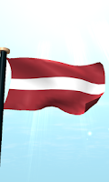 Screenshot of Latvia Flag 3D Free Wallpaper