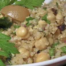 Bulgur and Chickpeas With Preserved Lemon Vinaigrette