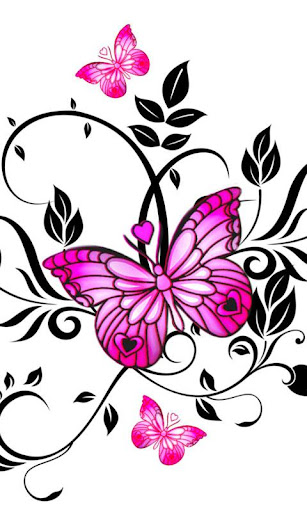 Exclusive butterfly 480x800