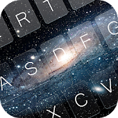 Galaxy Space Keyboard Theme APK for Blackberry