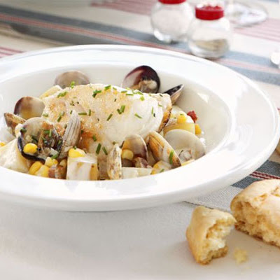 Seared Cod With Chowder Sauce