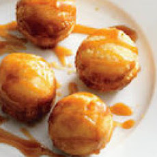 Doughnut Holes with Almond Caramel Sauce