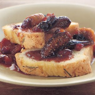 Rosemary Pound Cakes with Port-Soaked Dried Fruits