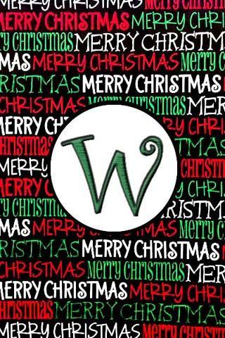 聖誕節的Monogram W直播可濕性粉劑