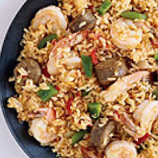 Skillet Shrimp and Sausage
