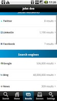 Screenshot of kgbpeople - people search