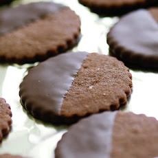 Fine Cooking's Chocolate-Glazed Chocolate-Hazelnut Cookies