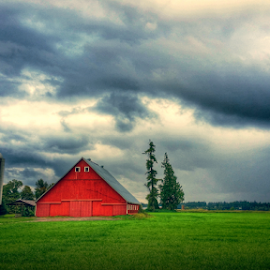 red barn, dark cloud by Todd Reynolds - Buildings & Architecture Other Exteriors