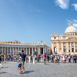 St. Peters, Rome by Vibeke Friis - Buildings & Architecture Public & Historical ( st. peter's basilica, square, panorama,  )