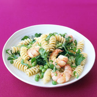 Fusilli with Shrimp and Peas