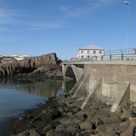Brákarbrú by Óli Pétursson - Buildings & Architecture Bridges & Suspended Structures ( iceland, brákarey, brákarbrú, sea, borgarnes )