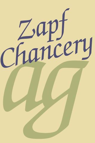 Zapf Chancery FlipFont - screenshot