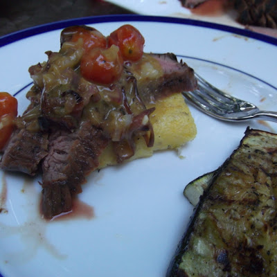 Grilled Flank Steak with Cherry Tomato Vinaigrette