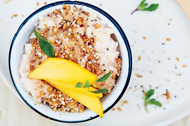 Rice Pudding with Ginger, Amaranth, and Mango Recipe   Yummly