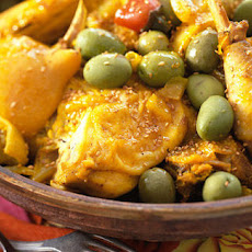Chicken Cooked In Tagine With Olives And Lemons