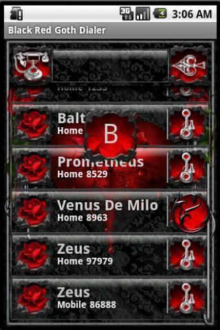 玩個人化App|黑色紅色哥特撥號免費|APP試玩