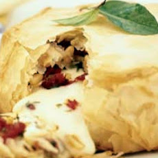 Baked Brie and Red Pepper Jelly Wrapped in Phyllo Pastry