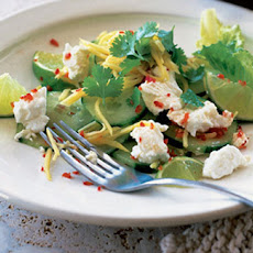 Feta, Mango, Cucumber And Lime Salad With Chilli