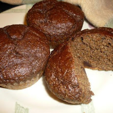 Moist Chocolate Flax Muffins