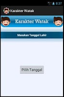 Screenshot of Karakter Watak