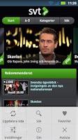 Screenshot of Play SE (för svtplay.se)
