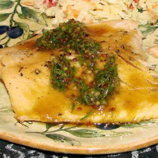 Brown Sugar Roasted Salmon With Maple-Mustard-Dill Sauce