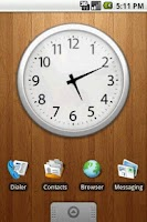 Screenshot of Chrome Clock Widget Large 4x3
