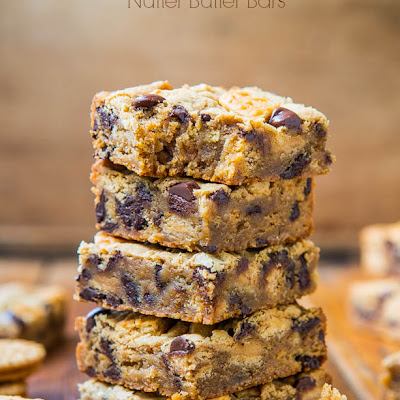 Peanut Butter Chocolate Chip Nutter Butter Bars