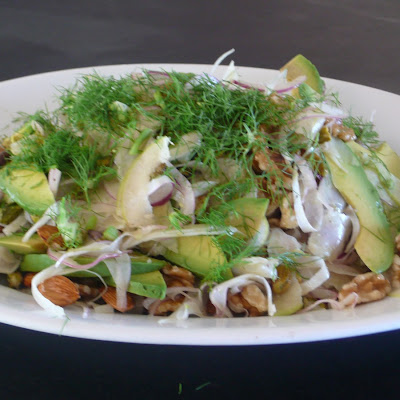 Asian Pear,Fennel and Lotsa Nuts Salad