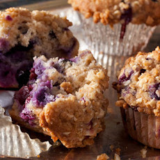 Whole-Wheat-and-Almond Blueberry Muffins with Streusel Topping Recipe
