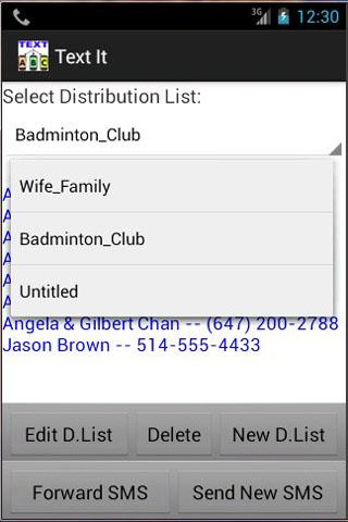 Text It Group SMS - screenshot