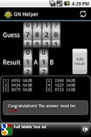 Screenshot of Guess Number Helper
