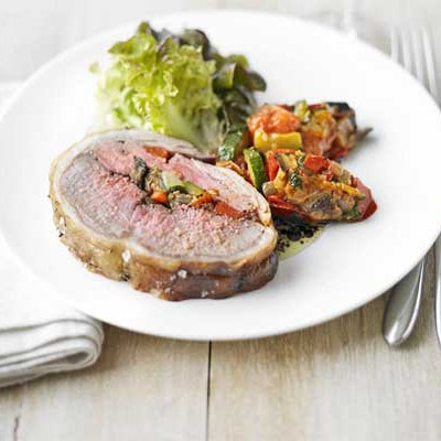 Saddle Of Lamb Stuffed With Ratatouille