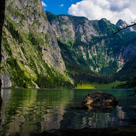Obersee by Stuart Byles - Landscapes Mountains & Hills ( reflection, mountains, obersee, bavaria, trees., lake, berchtesgaden, alps,  )