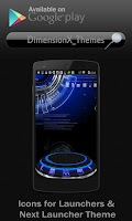 Screenshot of Next Launcher Theme Blue Trial