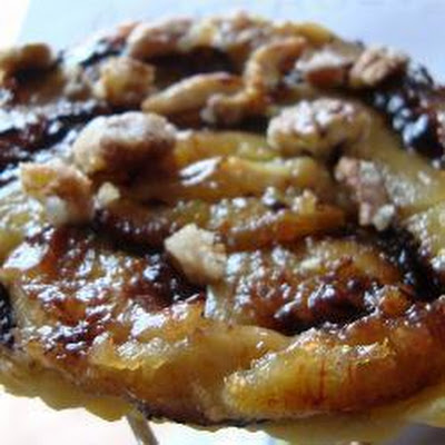 Mini Chocolate Banana Tarts Tatin With Caramelised Vanilla Pecans