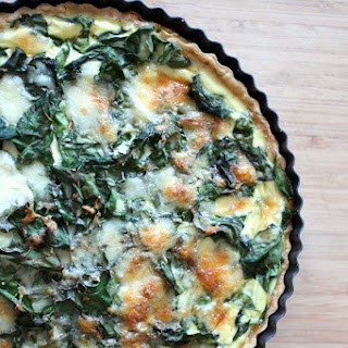 Swiss Chard Leek and Gruyere Quiche