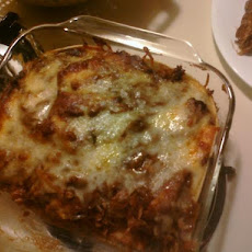 Chicken Mole 'lasagna'.....easy and Good!
