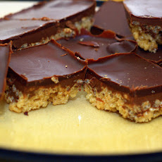 Chocolate-Peanut Crisp Bars