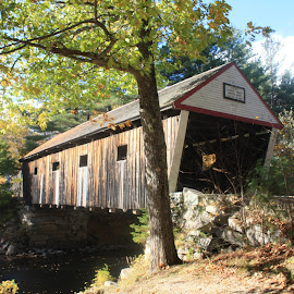Covered Bridge by Ernie Easter - Buildings & Architecture Bridges & Suspended Structures ( automobiles, andover maine, maine, covered bridge, historical, bridge )