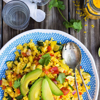 Calabacitas Orzo Salad with Cilantro Lime Dressing {gf+v}
