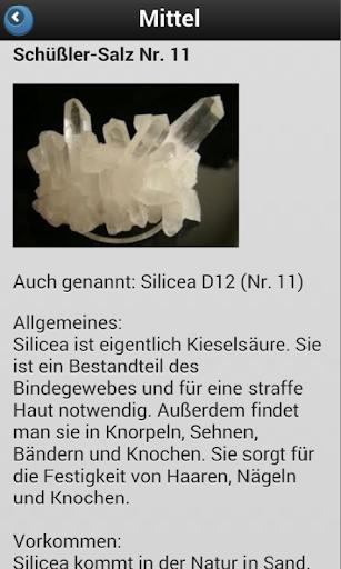 SCHUESSLER TISSUE CELL SALTS - screenshot